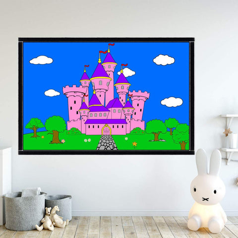 VWAQ Coloring Wall Prints - Princess Castle Dry Erase Whiteboard Decal with Markers - DRV8 - VWAQ Vinyl Wall Art Quotes and Prints