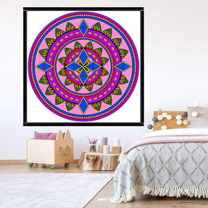 VWAQ Coloring Wall Prints - Mandala Dry Erase Whiteboard Wall Decal - DRV5