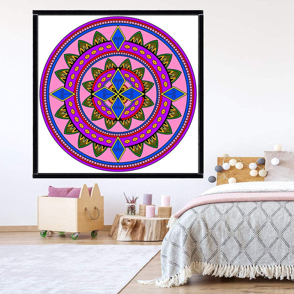 VWAQ Coloring Wall Prints - Mandala Dry Erase Whiteboard Wall Decal - DRV5 - VWAQ Vinyl Wall Art Quotes and Prints