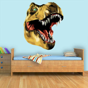 VWAQ Dinosaur Head Decal T-Rex Vinyl Wall Sticker Prehistoric Boys Room Decor - CAW2