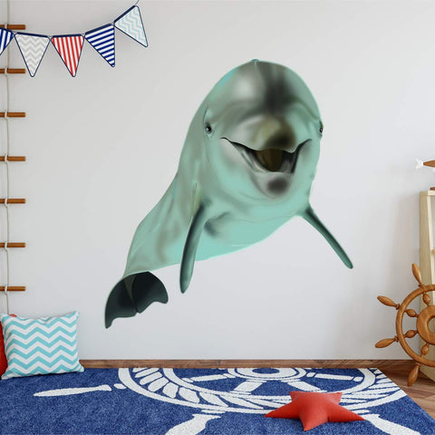 VWAQ Dolphin Wall Decals Sea Life Kids Room Sticker Decor - NA07