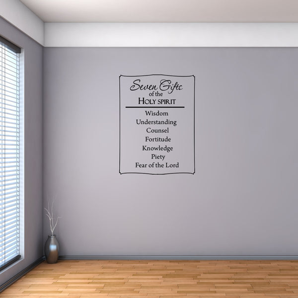 VWAQ Seven Gifts of the Holy Spirit Religious Vinyl Wall Decal - VWAQ Vinyl Wall Art Quotes and Prints