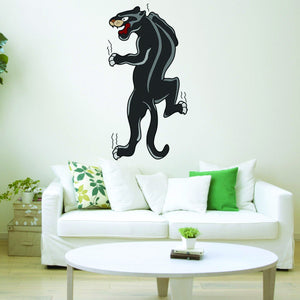VWAQ Panther in Black Wall Decal - Pantera Decal, American Traditional Tattoo Art - AT4