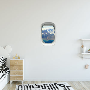 Airplane Window Landscape View Peel and Stick Vinyl Wall Decal - PW31 - VWAQ Vinyl Wall Art Quotes and Prints