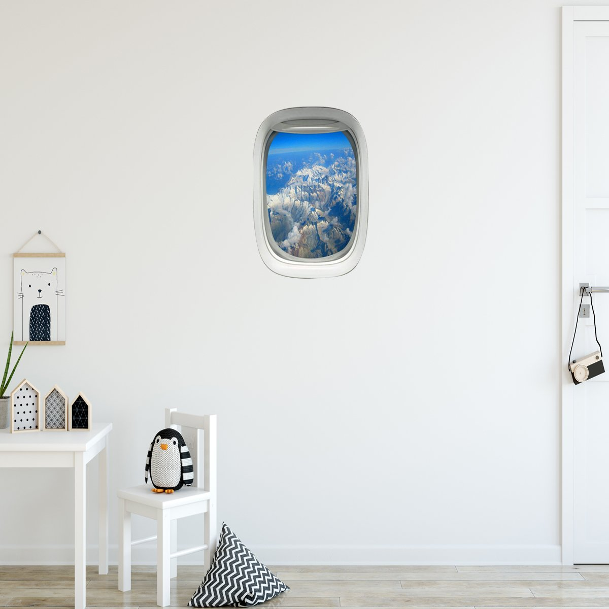 VWAQ Airplane Window Mountain View Peel and Stick Vinyl Wall Decal - PW25 - VWAQ Vinyl Wall Art Quotes and Prints