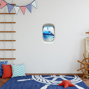 VWAQ Peel and Stick Airplane Window Wing View Vinyl Wall Decal