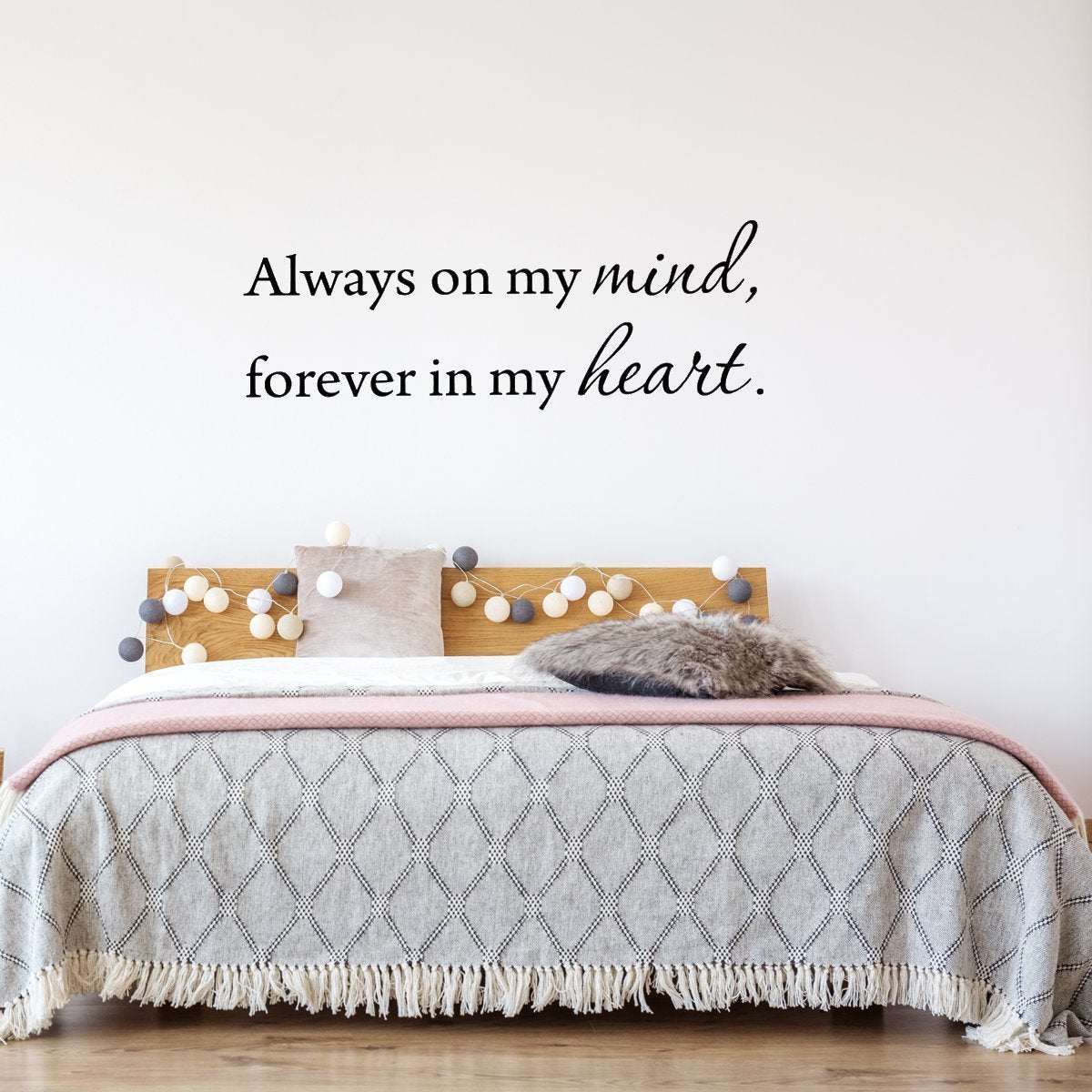 Always On My Mind Forever In My Heart Wall Decal - VWAQ Vinyl Wall Art Quotes and Prints