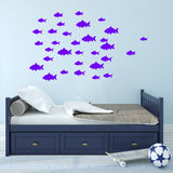 VWAQ Pack of 32 Peel and Stick Fish Vinyl Wall Decals - VWAQ Vinyl Wall Art Quotes and Prints