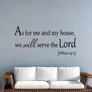 As for Me and My House We Will Serve the Lord Faith Wall Quotes Decals - VWAQ Vinyl Wall Art Quotes and Prints