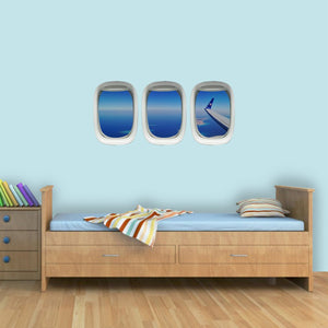Airplane Wing Window View Wall Decal