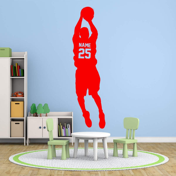 VWAQ Basketball Name Decals for Boys Room - Personalized Sports Vinyl Sticker Custom Kids Room Decor - CS14 - VWAQ Vinyl Wall Art Quotes and Prints