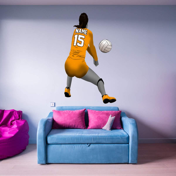 VWAQ Custom Name Volleyball Wall Decal - Personalized Wall Stickers for Bedroom Girls - HOL33 - VWAQ Vinyl Wall Art Quotes and Prints