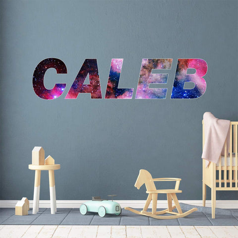 VWAQ Nursery Space Wall Sticker - Custom Galaxy Name Wall Decal Kids Room Art - Horizontal-GN27 - VWAQ Vinyl Wall Art Quotes and Prints