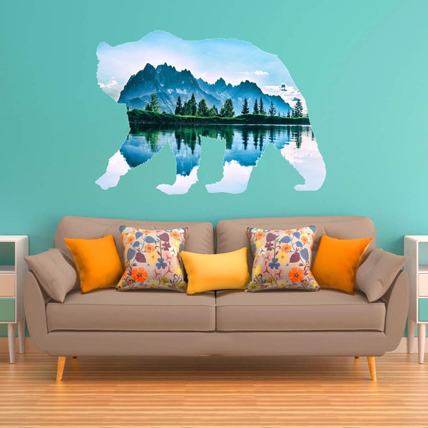 VWAQ Natural Bear Peel and Stick Wall Sticker - Large Animal Wall Decal - SC02 - VWAQ Vinyl Wall Art Quotes and Prints
