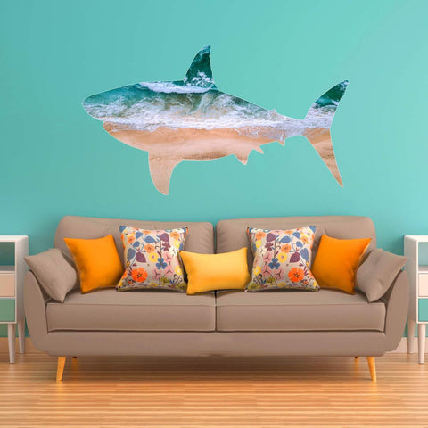 VWAQ Great White Shark Wall Art Decal - Ocean Wall Sticker Sea Theme Beach Decor - SC05 - VWAQ Vinyl Wall Art Quotes and Prints