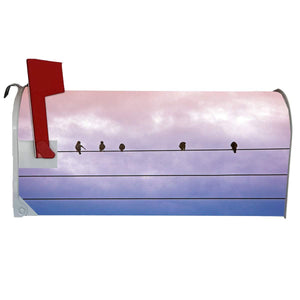 VWAQ Birds on Wire Mailbox Covers Magnetic Decorative Nature Mailbox Wraps - MBM6