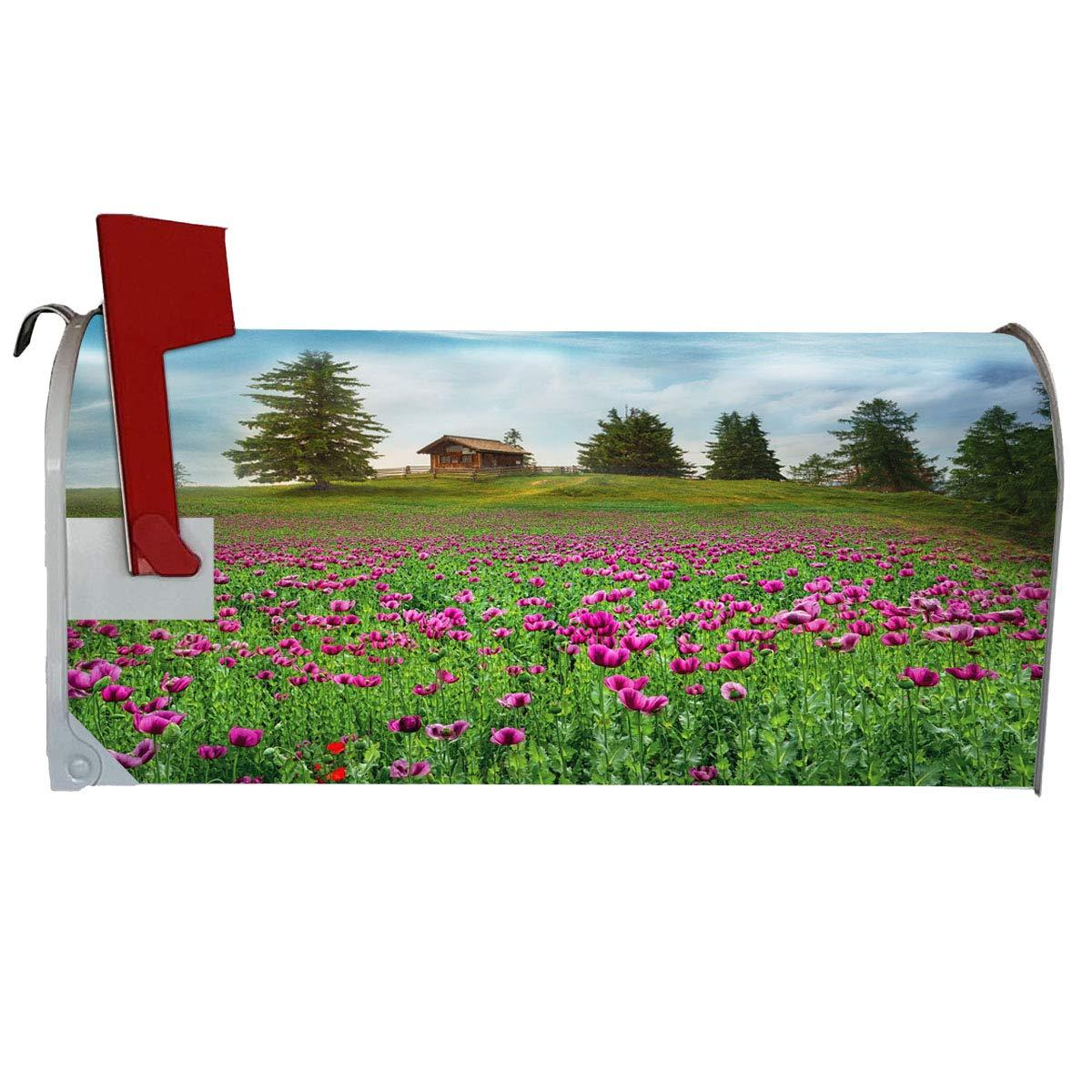 VWAQ Flower Field Mailbox Cover Decorative Spring Mailbox Magnet - MBM7 - VWAQ Vinyl Wall Art Quotes and Prints