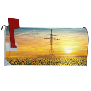VWAQ Sunflower Mailbox Covers Magnetic Spring Mailbox Floral Magnet Cover - MBM8