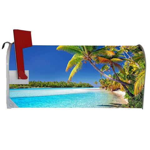 VWAQ Summer Mailbox Covers Magnetic Ocean - Tropical Beach Decoration - MBM10 - VWAQ Vinyl Wall Art Quotes and Prints