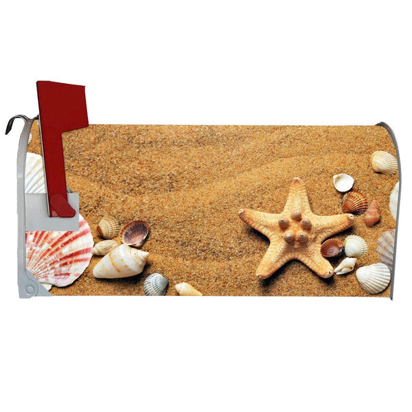 VWAQ Seashells and Starfish Summer Beach Mailbox Covers Magnetic Decorative - MBM9 - VWAQ Vinyl Wall Art Quotes and Prints