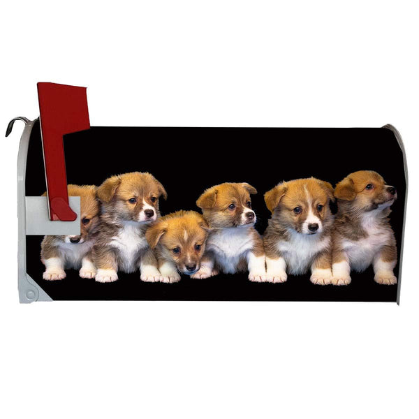 VWAQ Puppy Mailbox Covers Magnetic - Dogs Mailbox Wraps Decor - MBM13 - VWAQ Vinyl Wall Art Quotes and Prints