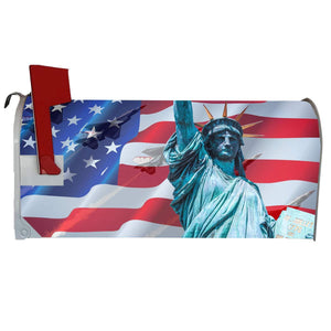VWAQ Patriotic USA Mailbox Covers Magnetic - American Flag Decor for Outside - MBM15
