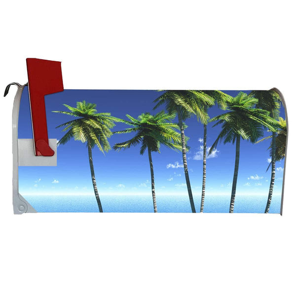 VWAQ Tropical Palm Trees Mailbox Cover Magnetic - Ocean View Summer Swag - MBM12 - VWAQ Vinyl Wall Art Quotes and Prints