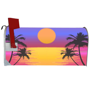 VWAQ Palm Tree Mailbox Cover Magnetic - Summer Beach Decorative - MBM11 - VWAQ Vinyl Wall Art Quotes and Prints