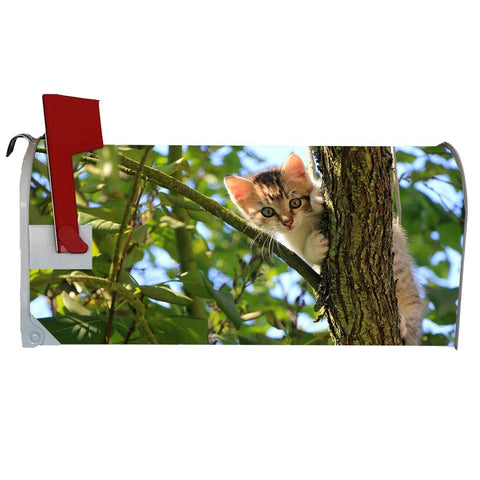 VWAQ Kitten Mailbox Covers Magnetic Cat Decorations for Outside - MBM14 - VWAQ Vinyl Wall Art Quotes and Prints