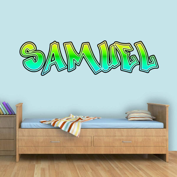 VWAQ Custom Graffiti Name Wall Decal - Personalized Hip Hop Decor for Kids Rooms - GN29