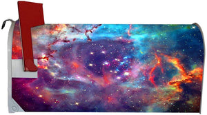 VWAQ Galaxy Mailbox Covers Magnetic - Outer Space Mailbox Wrap Decor - MBM20