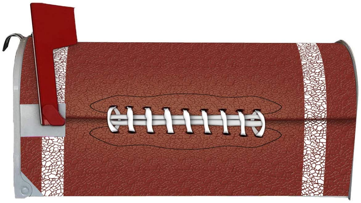 VWAQ Football Mailbox Covers Magnetic Sports Decorative Art - MBM28