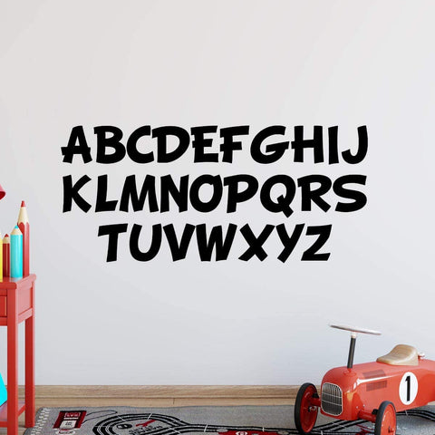 VWAQ Alphabet Wall Decals for Kids Classroom Educational Vinyl Stickers