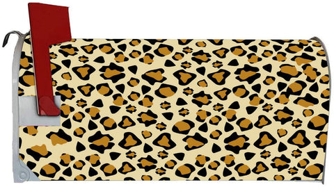 VWAQ Cheetah Print Mailbox Cover Magnetic Animal Leopard Print Wrap Decoration - MBM31