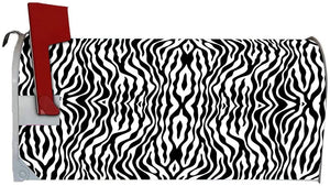 VWAQ Black and White Zebra Print Mailbox Cover Magnetic Decor - MBM32