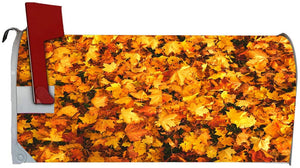 VWAQ Leaves Mailbox Covers Magnetic Fall Autumn Forest Decorative Mailbox Wraps - MBM35