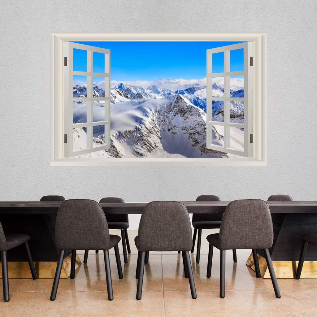 Airplane Cockpit Wall Mural Mountain Window Wall Decal Cp16