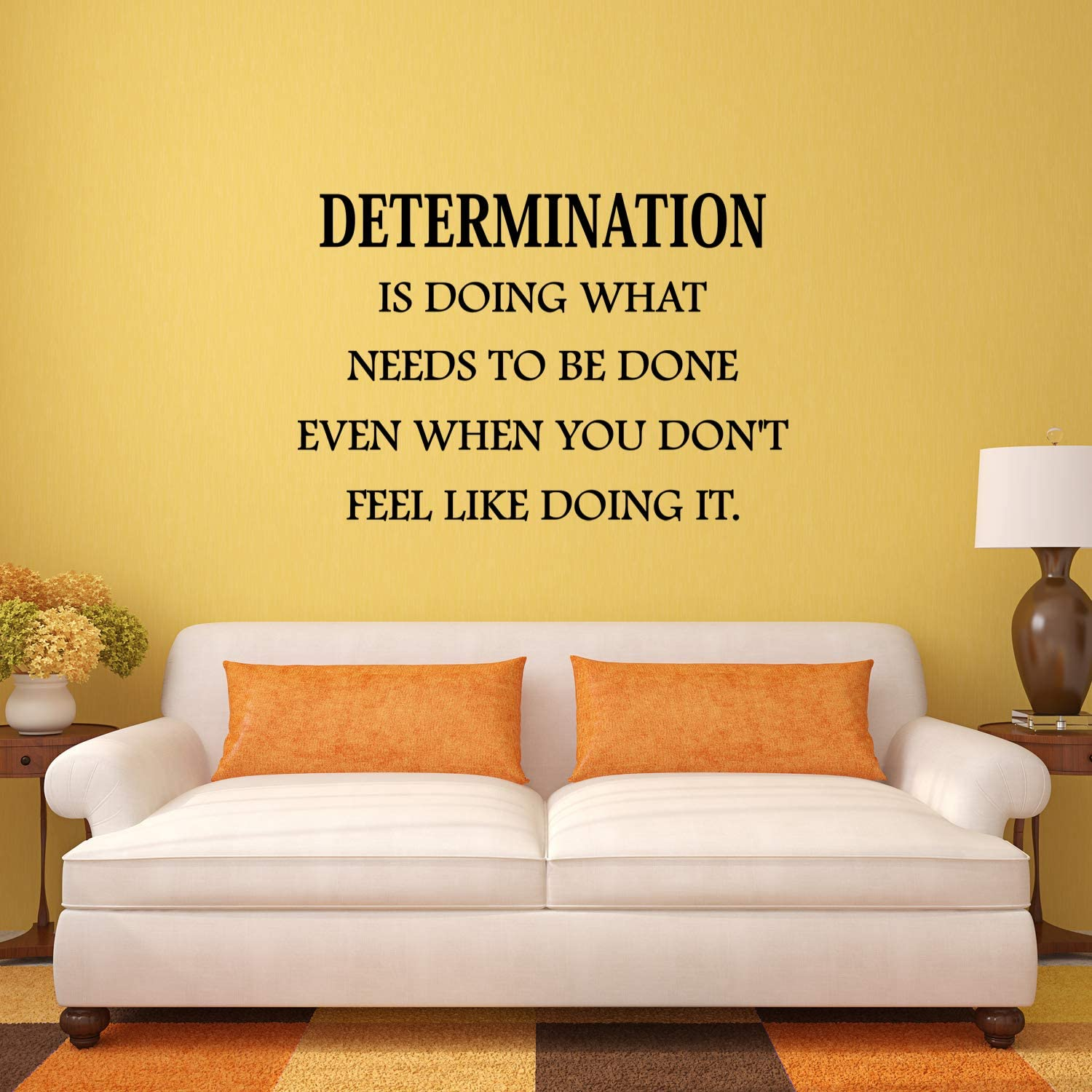 VWAQ Determination Wall Decal is Doing What Needs to be Done Quote Home and Office Wall Decor - Blac