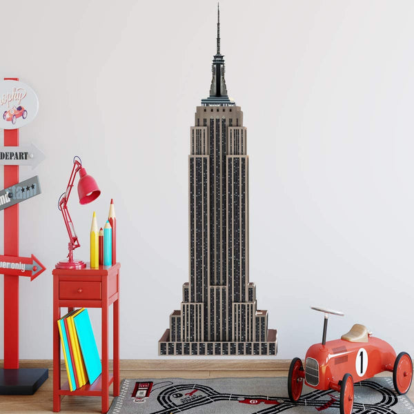 VWAQ - Empire State Building Wall Mural NYC Wall Sticker New York City Skyscraper Decal - NA09