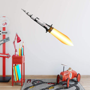VWAQ Spaceship Wall Decal for Kids Rooms Space Rocket Ship Peel and Stick Sticker - NA10