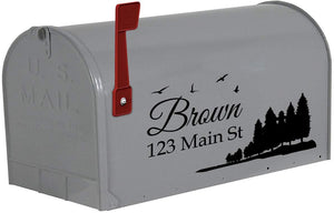 VWAQ Custom Mailbox Address Decal - Family Name Sticker Personalized Decor - CMB29