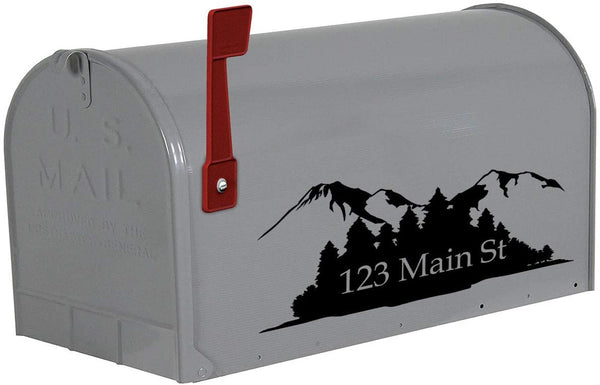 VWAQ Personalized Mailbox Address Decals Set of 2 Forest Custom Address Vinyl Stickers - CMB28