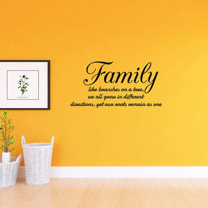 VWAQ Family Like Branches on a Tree Vinyl Wall Decals Quotes Home Sayings Decor