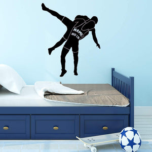 VWAQ Wrestling Wall Sticker Custom Boys Room Decor Personalized Sports Decal - CS25