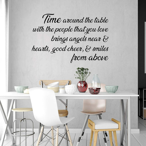 VWAQ Time Around The Table with The People That You Love Wall Decal Dining Room Family Quotes