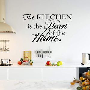 VWAQ The Kitchen is The Heart of The Home Wall Decal Sticker Decor - Dining Room Vinyl Wall Sayings
