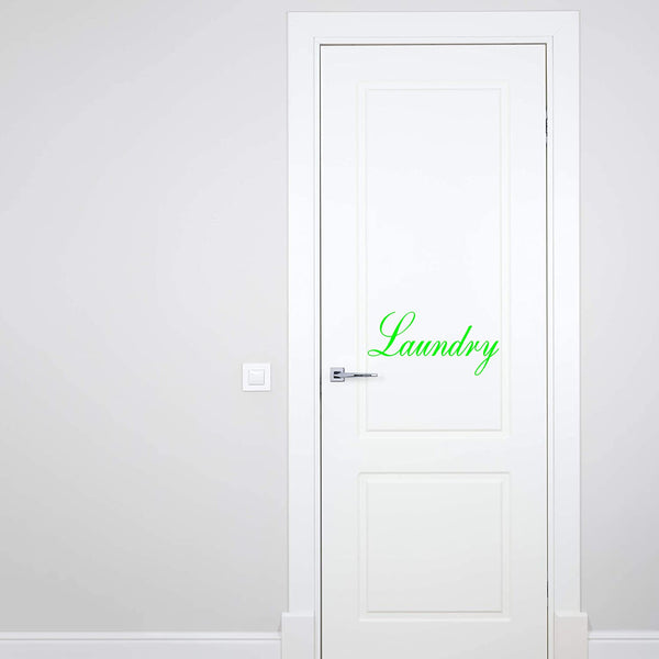 VWAQ Laundry Door Decal Vinyl Sticker Laundry Room Decor Home Decorations