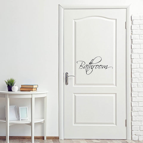 VWAQ Bathroom Door Decal Vinyl Sticker Restroom Decor Home Decorations