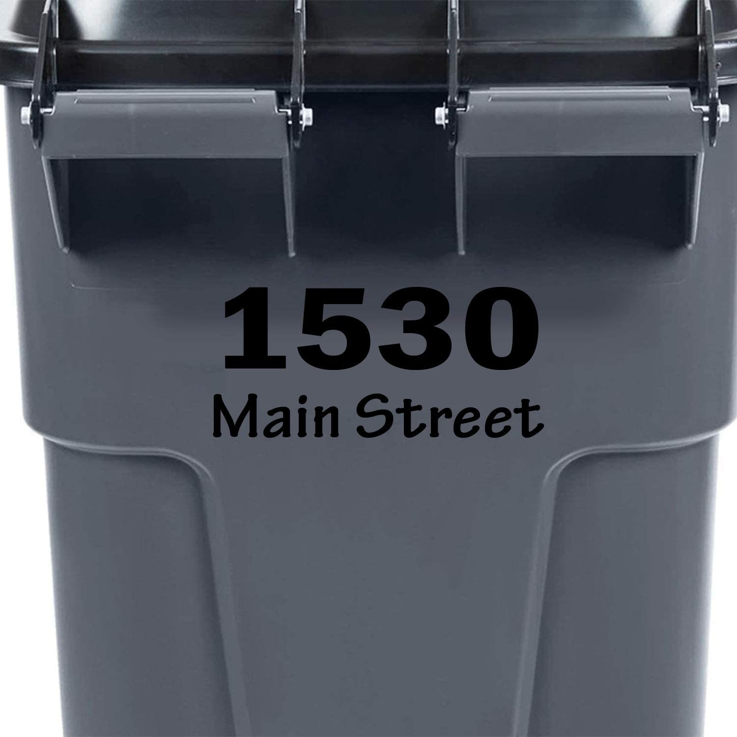 VWAQ Personalized Trash Can Decal Custom Garbage Bin Decor Address Vinyl Sticker - TC14