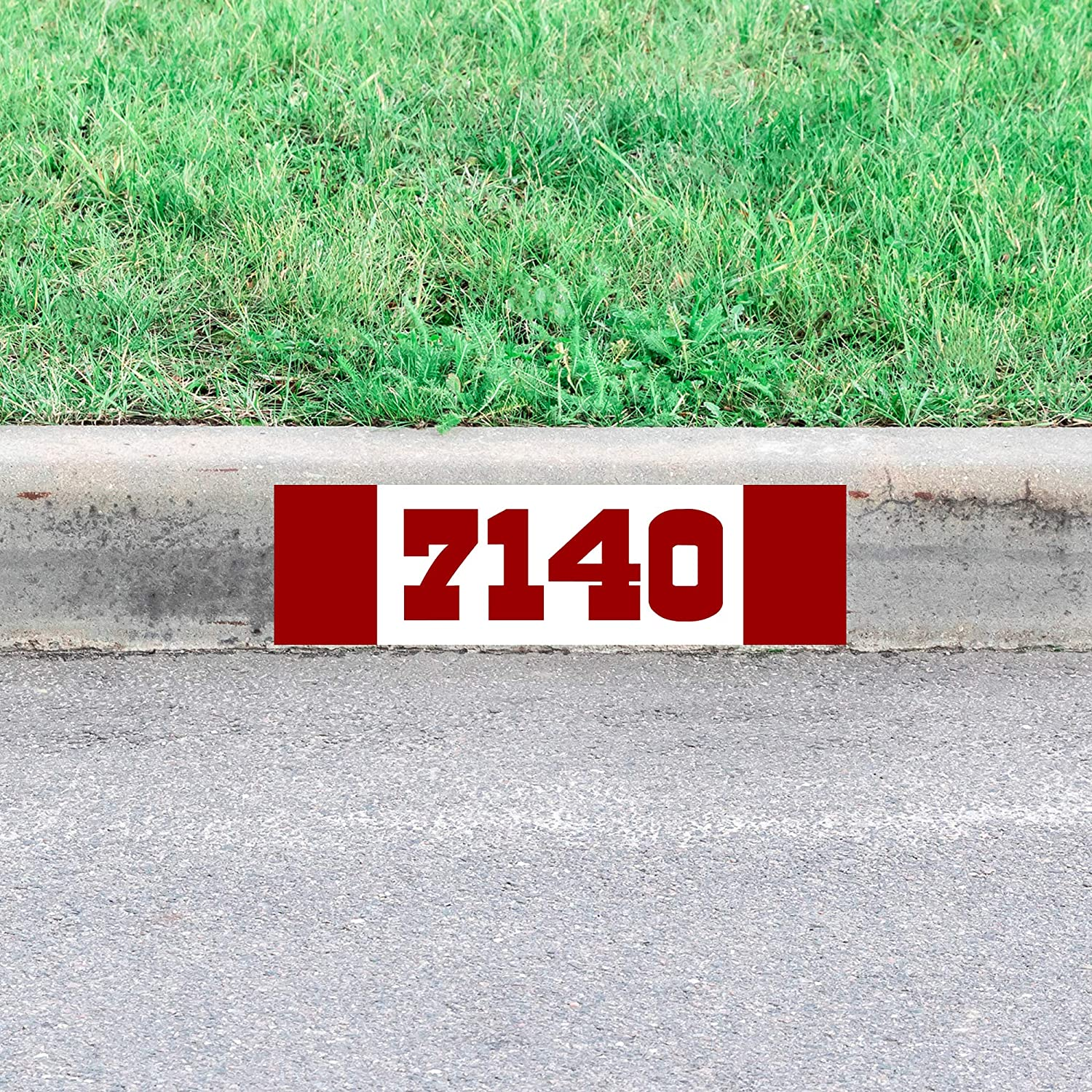 VWAQ Custom Curbside Numbers Decal Personalized Curb Street Address Sticker Home Decor - PCCD12